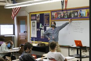 Dr. Sawyer teaching his class