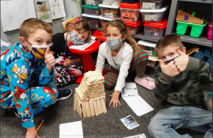 1st Grade Students Engaging in a STEM Activity.