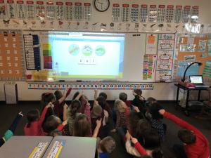 Kindergarten classroom learning.